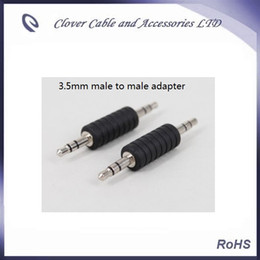 free shipping of 20pcs lot nickel plated 3.5mm male to male stereo audio extended adapter