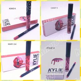 Wholesale New Makeup Lips Kylie Lip Kit Matte Liquid Lipstick Lip Liner Set Different Colors
