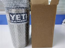 Wholesale 2016 YETI Stainless Steel oz Yeti Cups Cooler YETI Rambler Tumbler Cup Vehicle Beer Mug Double Wall Bilayer Vacuum Insulated ml
