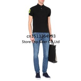 Wholesale colors Top Quality Horse Famous Brand Men s Solid Tops Short Sleeves Casual Shirts Male Summer Dress Sport
