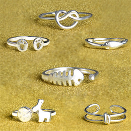 Hot Sale Wholesale Mixed Order styles 30pcs lot 925 Silver Jewelry Adjustable Rings for Women R081