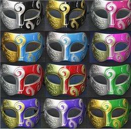Wholesale BEST SELLING Men s Carving Flower Mask Halloween Masquerade Masks Venetian Dance Party Mask Men Mask festive party supplies