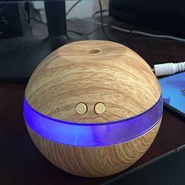 Древесное масло Онлайн-USB портативный мини-увлажнитель мелкого дерева зерна воздуха аромат эфирного масла диффузор светодиодный ультразвуковой аромат ароматерапии увлажнитель для дома офицера