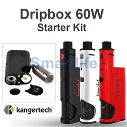 Wholesale Kangertech Dripbox w Kit with ML Tank Kanger W Dripmod Special Battery Cover Design mm Intake Slots with Replacement drip coil