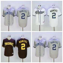 2017 johnny maillots manziel Cool Base San Diego Padres 2 Johnny Manziel Jersey MLB Flexbase Johnny Manziel Baseball Jerseys Coffee Gris Gris Blanc Throwback promotion johnny maillots manziel