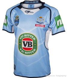 Wholesale 1 best quality free send New South Wales Blues State Of Origin Classic Sportswear Shirt