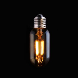 Wholesale Amber Glass Shape W T45 Edison Lamp Vintage LED Filament Light Bulb Super warm K E26 E27 Base Dimmable