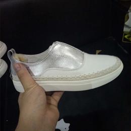 Wholesale New Australian Tasman Genuine Leather Straw Braid Ladies Women s White Casual Shoes Slip On Villi Women Flat Shoes Size