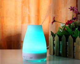 2016 100ml Essential Oil Diffuser Portable Aroma Humidifier Diffuser LED Night Light Ultrasonic Cool Mist Fresh Air Spa Aromatherapy ST-08