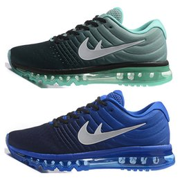Wholesale 2017 New air bubble cushioned sole Max Shoes Women and Men Sport Running Shoes max shoes us DropShipping With Box