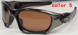 Wholesale Excellent hot Pit II men sunglasses top quality Polarized lens Outdoor Sports cycling eyewear l box