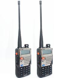 Wholesale Cheap Way Walkie Talkies - 2pcs BaoFeng walkie talkie UV-5RE+Plus Black ham amateur two way radio dual band 136-174&400-520MHz cheap radios free shipping