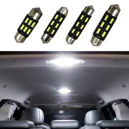 50pcs interior bulbs 31mm 36mm 39mm 41mm 4014 C5W 6SMD 12V LED pathway glove box Luggage Trunk festoon lamps vehicle Dome Map lighting refit
