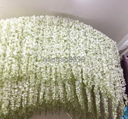 Wholesale 2016 Long Elegant Artificial Silk Flower Wisteria Vine Rattan For Wedding Centerpieces Decorations Bouquet Garland Home Ornament