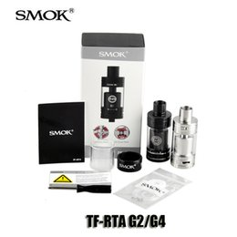 Wholesale 100 Original Smok G4 G2 TF RTA Tank Kit with super big deck off base swivel top cap design Adjustable airflow system