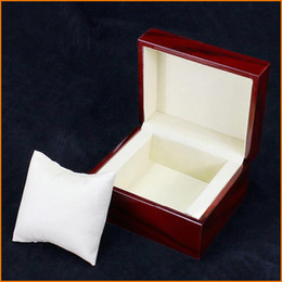 Wholesale Red Fashion watch box with pillow package case wristwatches boxes Jewelry storage gift Display
