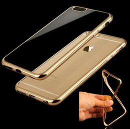 Wholesale For Iphone plus for samsung note5 Case TPU Ultra Thin Case Electroplating Technology Soft Gel Silicone Case Opp Package DHL Free SCA082