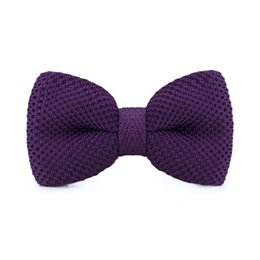 Purple Bow Tie Men's Tuxedo Party Adjustable Business Casual Stylish Bow Tie Gift Box Fashion Accessories F-315