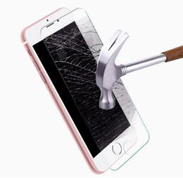 Descuento pantallas digitales Protector de la pantalla para la película de cristal templada delantera del iPhone 7plus de Apple iPhone7 anti-huella digital 9H claro dureza 500pcs