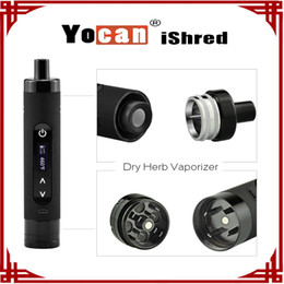 [ sp ] 1 pc Authentic Yocan iShred Dry Herb Vaporizer E Cigarette Kits 2600mAh LCD Sreen Built-in Herb Grinder vs Yocan Evolve Plus
