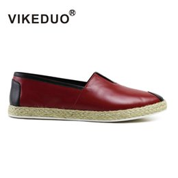 Wholesale VIKEDUO Men shoes men casual shoes XX fashion Genuine leather shoes patina shoes Hand painted shoes Second Only To Berluti