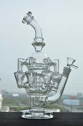 Wholesale Real PIC Cyclone Helix glass bongs water pipe arms perc Glass pipe oil rig mm joint