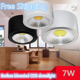 White Black Sliver body No need Opening hole Dimmable 7W Warm   Natural   Cold White COB down light Ceiling COB light Epistar Chip,CE & RoHS