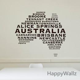 Wholesale Australian Map Wall Sticker Map Of Australia Wall Decal D Modern Map Wallpaper Decorating Modern Office Decor M36