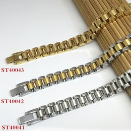 Wholesale New Arrival Rolex Style Fashion Stainless Steel Women Bracelets mm Silver Gold Color Link Chains Gift For Women