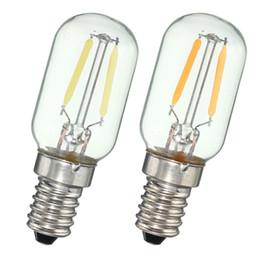 Wholesale E14 E12 W COB LED Vintage Edison Lamp Bulb Filament Refrigerator Light Lumen Warm Pure White Non Dimmable AC110V V