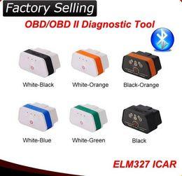 Wholesale 50pcs high Quality Original Vgate icar elm bluetooth OBD2 Scanner car Diagnostic Tool elm327 Car Vehicle Interface Scanner