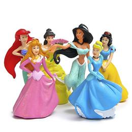 Wholesale 6pcs Mermaid Snow White princess doll toys terrarium figurines estatueta fairy garden miniatures dollhouse home decor