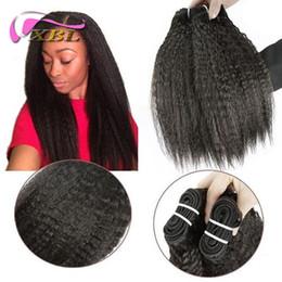 Brazilian Kinky Straight Hair 3 Bundles Brazilian Virgin Hair Straight Weave Coarse Yaki Virgin Hair Yaki Human Hair Distributor