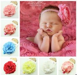 Hot ! Baby Girls Kids Lovely Roses Pearls Hair Bands Vintage Flowers Hair Accessories Pretty Headbands Infant Headbands 6 Color