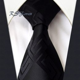 Free Shipping Black Solid 100% Silk Necktie New Jacquard Woven Classic Men's Tie Wedding