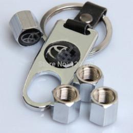 Wholesale NEW Car Wheel Airtight Tyre Tire Stem Air Valve Caps set Fit for Toyota White Car Gas Gate