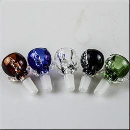 2017 les brunes 14mm 18mm dragon Bowl Claw Colored Glass Bowl Multicolor Thick Homme Bong Glass Bowl pour les conduites d'eau Bleu Vert Marron Noir Transparent 5 couleurs. les brunes ventes