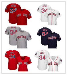 2016 New Custom 34 David Ortiz Boston Red Sox base de base fraîche Jersey avec Patch de la retraite pour les hommes Femmes Rouge Blanc Gris Marine supplier new jersey woman à partir de nouvelle femme jersey fournisseurs