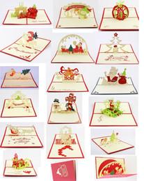 Wholesale d greeting card christmas greeting card christmas decorations pop up greeting card items mixed per