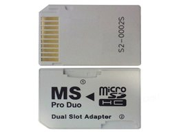 Canada Neuf Micro SD HC pour Memory Stick MS Pro Duo carte double Adaptateur 2 slot pour Sony PSP 1000 2000 3000 Offre