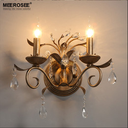 Wholesale Vintage American Crystal wall light lamp Beautiful Crystal wall bracket for Bathroom Living room Dining room aisle hallway light