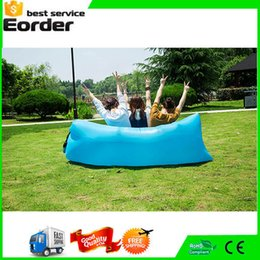 Wholesale Top quality Beach Lounge lazy bag inflatable sleeping bag Fast Inflatable camping hangout Air Sofa Sleep Camping Bed