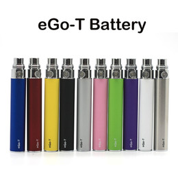 Wholesale E Cigarettes eGo T Battery mAh Ego T Batteries Thread Colors Available Fast DHL Shipping Fit MT3 H2 CE4 CE5 Clearomizers