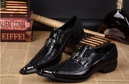 Top brand Italy Sapato employees of Oxford men's formal shoes men men's dress shoes real leather Oxford Shoes men