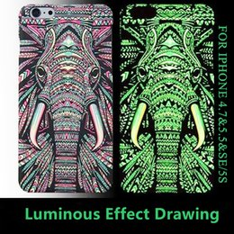 Wholesale IPhone S Plus Night Luminous Case Anti Scratches Excellent Grip Matte Skin Animal Totem PC Hard Cover for iPhone S S PLUS SE S