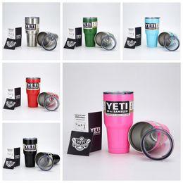 Wholesale Top Sale oz oz yeti tumbler Cups Stainless Steel Insulation Cup Cars Beer Mug Large Capacity Mug Tumblerful colorful yeti cooler
