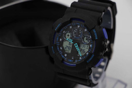 Wholesale Sport Watches Promotion Hardlex New Arrival Plastic Unisex Retail Fashion G Watch ga100 Time Zone Watch Watches