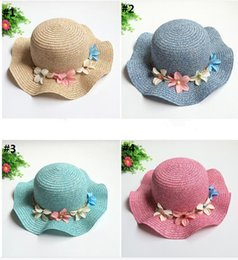 Wholesale 2016 summer new Waves flowers wave Dayan hat Ladies Fashion knit hat Beach sun hat china drop shipping E207