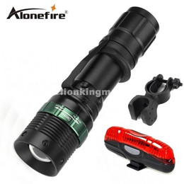 E3 CREE tactical cree led Torch Zoom cree LED Flashlight Torch light For 1x 18650 rechargeable+bike light+mounts