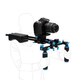 Plates-formes de caméra pour dslr en Ligne-Alliage d'aluminium Support de poignée DSLR Rig Kit d'épaule Movie Kit Set Stabilisateur de caméra Dslr Rig facile pour la prise de vue Appareil photo